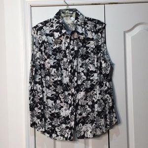 Harve Bernard 3x floral black/white sleeveless